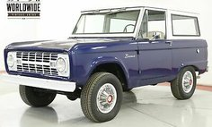 1967 Ford Bronco UNCUT BODY 289V8 3SPD 4X4 CONVERTIBLE TOP