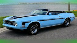 1973 Ford Mustang white power convertible top with glass rear window