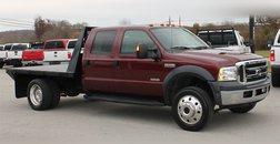 2007 Ford  Crew Cab Lariat 4x4 Flatbed DRW