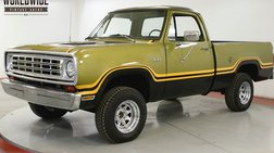 1975 Dodge W100 4x4 V8 PS PB SHORTBED 1 OWNER SINCE NEW