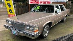 1983 Cadillac Fleetwood Brougham Base